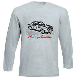 Lancia Fulvia Racing Tradition P - Grey Long Sleeved Tshirt- All Sizes In Stock