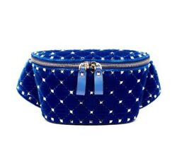 Valentino Rockstud Leather Belt Bag  Blue size 85  Fannypack   Designer $14 $975.00