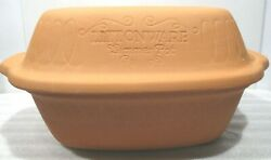 Vintage Littonware 2 Qt Clay Microwave Simmer Pot - X-recipes And Book