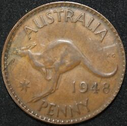 1948 | Australia One Penny | Coins | Km Coins