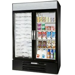 Configuration A Beverage-air Market Max Mmrf49-1-bw Black 2 Section Glass Do
