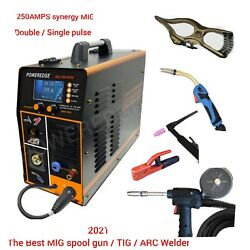 Mig Fire Wire Aluminumsingle/double Pulse 250amps Spool Gun/line Feed/tig 3in1