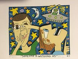James Rizzi Original 3d, Someone Is Watching Us, Funny Faces Handsigniert, 97