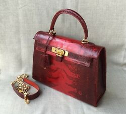 WOMEN'S BAG new handmade - Fashion Designer Genuine Lizard leather Handbag
