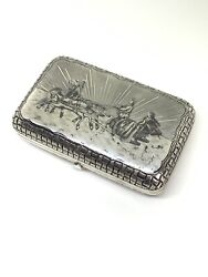 Imperial Russian Sterling Silver 84 Antique Cigarette Case Hallmarked