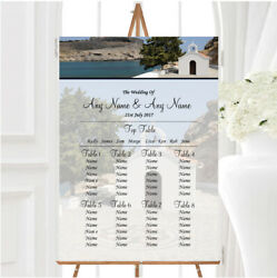 St Pauls Lindos Rhodes Abroad Personalised Wedding Seating Table Plan