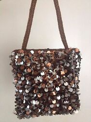 Far nine sequined silver and bronze bag purse $26.99