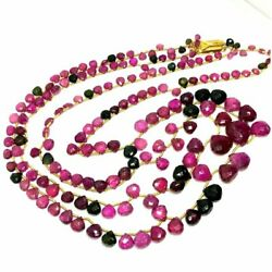 Natural Multi Tourmaline Faceted Heart Gemstone Beads 4-13MM AAA+ 20 Inch;