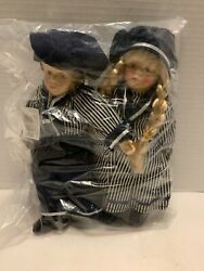 9andrdquo Pair Of Porcelain Boy And Girl German Dolls