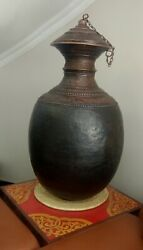 Ancient Vintage Nepalese Handmade Copper Pot Rice Storage Container Collective