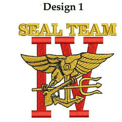 Seal Team 4 Four St Iv Navy Seals Embroidered Polo Shirt