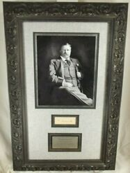 Theodore Roosevelt 26th President United States Autograph Display Psa/dna
