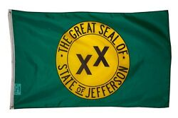 PringCor Large 3x5FT Flag Proposed Unofficial State Jefferson California CA Dorm