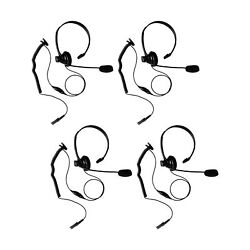 4 Pcs Commerical Business Sigle Sided Ultra Light Headphone For Motorola Dep570