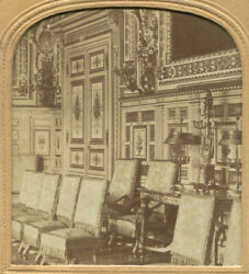 Louis Xiii Interior. Tinted Stereoview Tissue.