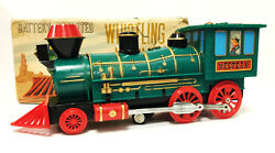 VINTAGE MARX BATTERY OPERATED WHISTLING LOCOMOTIVE PLASTIC/TIN TRAIN EXCELLENT
