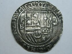 1555-98 Philip Ii 4 Real Cob Potosi Bolivia Spain Colonial Era Spanish Silver