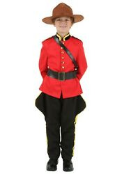 CHILD CANADIAN MOUNTIE COSTUME USED SIZE XL