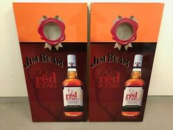 Jim Beam - Red Stag - Black Cherry Corn Hole Boards - Bean Bag Toss Game