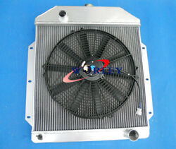 3row Aluminum Radiator And Fan For 1949-1953 Ford V8 Cars 1949 1950 1951 1952 1953