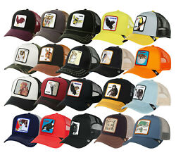 Goorin Bros Animal Farm Trucker Hat Snapback Mesh Cap Tiger Rooster Freedom Tuna $29.99