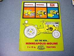 Minneapolis Moline Home Town And Country Tractors Color Brochure From 1964
