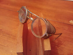 Antique circa 1900's Deco Goggle Safety Glasses  Motorcycle or Pilot