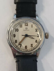 Rare 1939 stainless steel Omega cal.23.4 SC serviced and keeps time