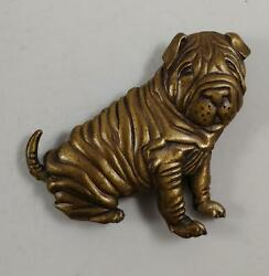 VINTAGE JJ 1986 BULLDOG PIN BROOCH