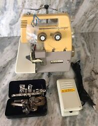 Bernette 203 Sewing Machine W Foot Pedal And Extra Tools/parts-rare Vintage-ship24