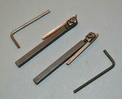 Pair Of New Unimat Lathe Edestaal Tool Bits And Hss Cutters 2700 Left + Right