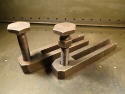 2 Piece Set Mill Hold Down Strap Clamps with Leveling Feet 12
