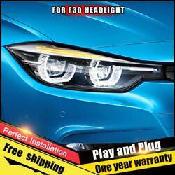 For Bmw 3 Series F30 2012-2016 Headlights Assembly Full Led Double Beam