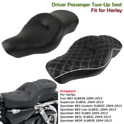 Driver Passenger Two-up Seat Cushion For Harley Sportster 883 Custom Xl883 04-13