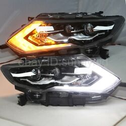 For 2017-2018 Year X-Trail Rogue LED Head lights lamps LED turn signal lights LD