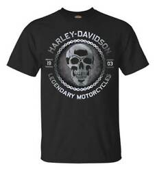 Harley-Davidson Men's Metal Head Short Sleeve Crew Neck T-Shirt Black