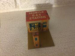 Mobile Gas Station Ho 1.75 X 2.75 By 1.5 Tall Japanese Tin Litho Toy Trains