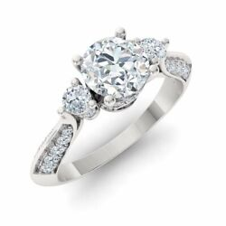 Certified 1.15 Ct Real I/si2 Diamond 14k White Gold Engagement Ring Size 6
