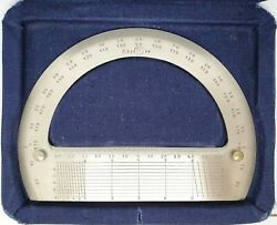 Vintage Ussr Drawing Protractor Professional Engineering Architect Drafting 1956