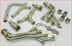 Mhp Stainless Catted Exhaust Manifold Fit 2000-02 Trans-am Camaro 5.7l Ls1