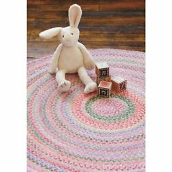 Capel Rugs Soft Cotton Chenille Country Braided Rug Babys Breath Tea Rose 510