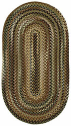Capel Rugs Bangor Wool Variegated Country Braided Oval Rug Sage Green 200