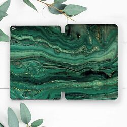 Green Emerald Gold Marble Smart Case For Ipad Pro 12.9 11 10.5 9.7 Air Mini 3 2