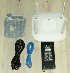 Cisco Air-cap3602e-z-k9 Dual Band Aironet Wireless Access Point W/ Bracket + Psu