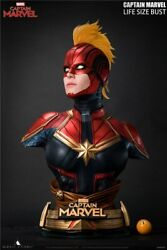 Queen Studios 1/1 Captain Marvel Life-size Bust Limited Resin Statue Instock