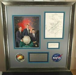 Apollo 13 Crew Signed Training Document Lovell Swigert Haise Authenticated Rare