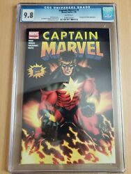 Captain Marvel 1 Cgc 9.8 Jan 2008 - Avengers And Cyclone Appearance Marvel Comics
