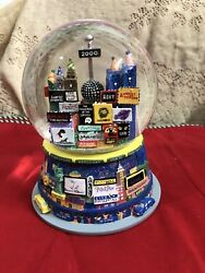 2000 New York City Musical Snow Globe Broadway Plays Twin Towers Auld Lang Syne