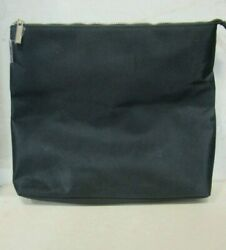 SPACE NK BLACK EXTRA LARGE COSMETIC BAG $16.00