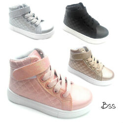 Big Kids Girls Fashion High Top Sneakers Shoes Size 11 3 New $16.99